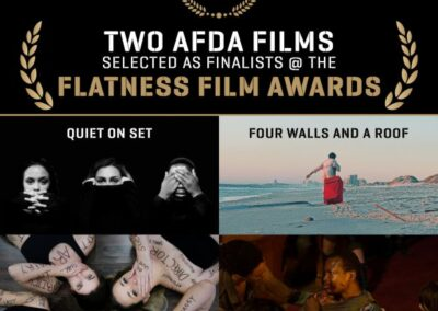 TWO AFDA FILMS SELECTED AS FINALISTS @ THE FLATNESS FILM AWARDS