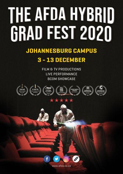 AFDA JOHANNESBURG HYBRID GRAD FEST SCHEDULE 2020