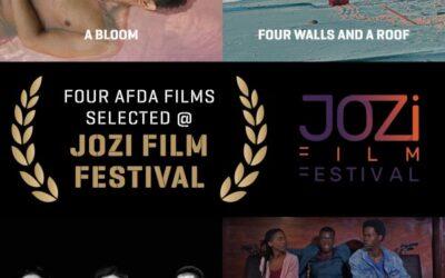 FOUR AFDA FILMS SELECTED @ JOZI FILM FESTIVAL
