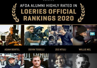 AFDA ALUMNI HIGHLY RATED IN LOERIES OFFICIAL RANKINGS 2020