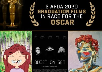3 AFDA 2020 GRADUATION FILMS IN RACE FOR THE OSCAR